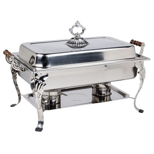 8 Qt. Stainless Steel Decorated Chafer
