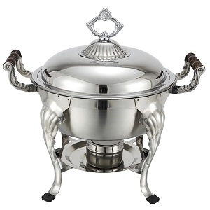 5 Qt Round Decorated Chafer