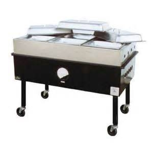 Outdoor 3 Pan Steam Table