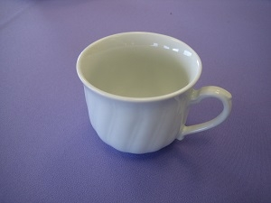 White China Tea/Coffee Cup