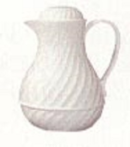 White Insulated Pitcher 40oz Capacity