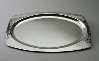 Oval Hammered Finish Tray