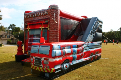Fire Engine Bounce House