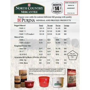 Save Now on Purina Mineral & Protein Products