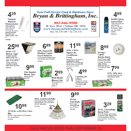September Sales Flyer