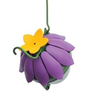 So Real Single Flower Hummingbird Feeder - Purple