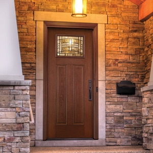 Fiber-Classic Mahogany Therma-Tru Entry Door