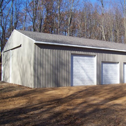 Pole barns big l lumber sheridan grand ledge for 24x32 pole barn