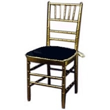 Chair-Gold Chivari W/Cushion