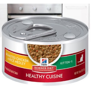 Hill's Science Diet Kitten Healthy Cuisine Roasted Chicken & Rice Medley