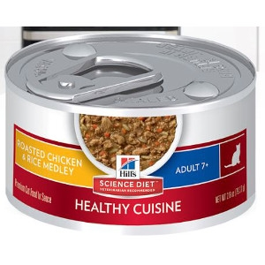 Hill's Science Diet Adult 7+ Healthy Cuisine Roasted Chicken & Rice Medley