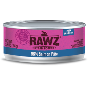 RAWZ Steam Cooked 96% Salmon Pate Cat Food