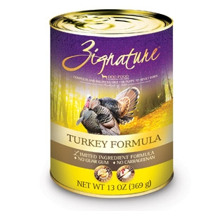 Zignature Wet Dog Food-Turkey Formula-13oz