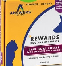 Answers Rewards Raw Goat Cheese with Cherries