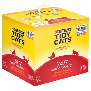 Tiday Cats 24/7 Performance Odor Control Cat Litter 40 lb. Box