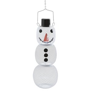 No/No Snow Man Wild Bird Feeder