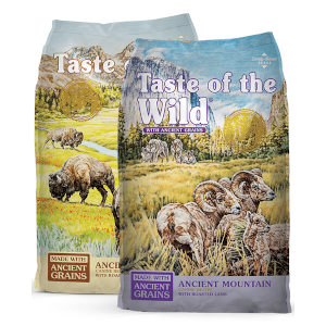 Taste of the Wild with Ancient Grains Canine Recipes