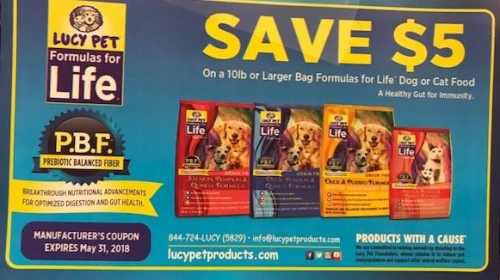 Lucy Pet Food Special Savings