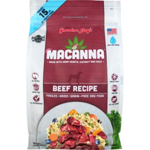 Grandma Lucy's Macanna Beef Freeze-Dried Graind-Free Dog Food
