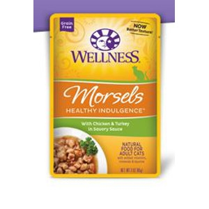 Wellness Healthy Indulgence Morsels with Chicken in Turkey in Savory Sauce 3 oz.