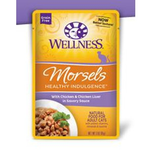 Wellness Healthy Indulgence Morsels with Chicken & Chicken Liver in a Savory Sauce 3 oz.