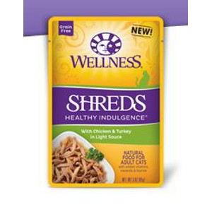 Wellness Healthy Indulgence Shreds with Chicken & Turkey in Light Sauce 3 oz.