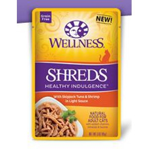 Wellness Healthy Indulgence Shreds Tuna & Shrimp in Light Sauce 3 oz.