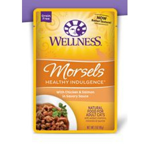 Wellness Healthy Pet Indulgence Morsels with Chicken & Salmon in Savory Sauce 3 oz.