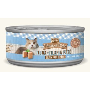 Purrfect Bistro Tuna & Tilapia Pate 5.5 oz. Can