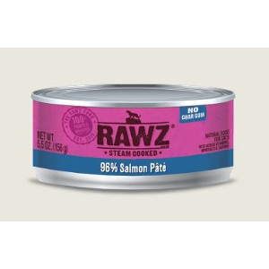 RAWZ 96% Salmon Pate 5.5 Oz. for Cats