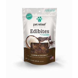 Pet Releaf Edibites Carob and Coconut 7.5oz
