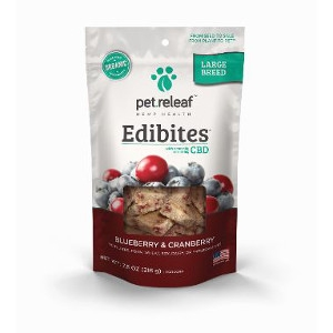 Pet Releaf Edibites Large Breed Blueberry and Cranberry 7.5oz