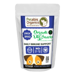 Petabis Organics Daily Immune Support treats 30ct.