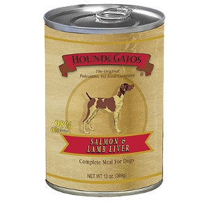 Hound and Gatos 98% Salmon & Lamb 13oz. can