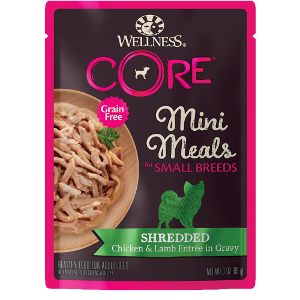 Wellness Core Small Breed Chicken & Lamb Shredded 3oz pouch