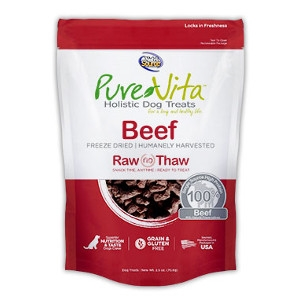 Pure Vita Freeze Dried Beef 2.5 oz Dog Treats