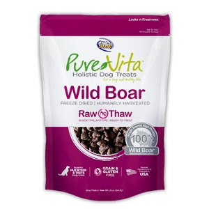 Pure Vita Freeze Dried Wild Boar 2oz Dog Treats