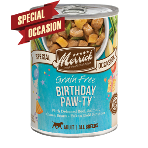 Merrick Special Occasion Grain Free Birthday Paw-ty 12.7oz can