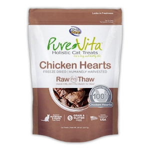Pure Vita Freeze Dried Chicken Hearts Cat treats