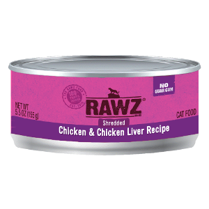 Rawz Shredded Chicken and Chicken Liver Cat Can's