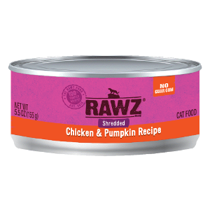 Rawz Shredded Chicken and Pumpkin Cat Can