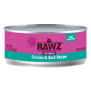 Rawz Shredded Chicken and Duck Cat Can