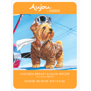 Aujou® by RAWZ® Chicken Breast & Duck 2.46oz Pouch Dog