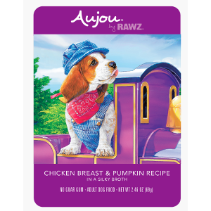 Aujou® by RAWZ® Chicken Breast & Pumpkin 2.46oz Pouch Dog