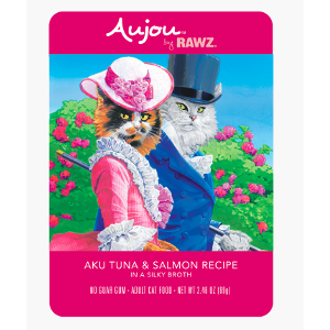 Aujou® by RAWZ® Aku Tuna & Salmon 2.46oz Pouch Cat
