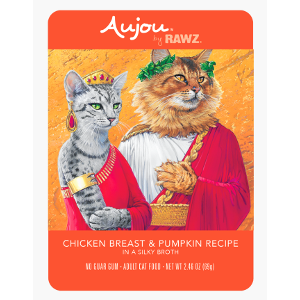Aujou® by RAWZ® Chicken Breast & Pumpkin 2.46oz Pouch Cat