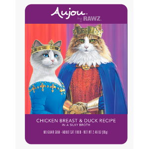 Aujou® by RAWZ® Chicken Breast & Duck 2.46oz Pouch Cat