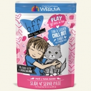 B.F.F. Chill Out Tuna and Chicken Pate 3 oz. Cat Pouch