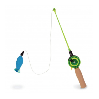 Go Fish! Teaser Wand Cat Toy with Catnip