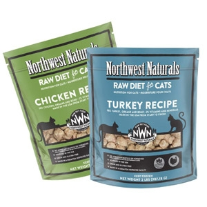 Northwest Naturals Raw Turkey Diet for Cats, 2lbs.